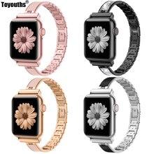 Für Apple Uhr Band 40mm 44mm Serie 4 Schlank Ersatz Armband Schmuck Frauen Für iWatch Serie 3 2 1 38mm 42mm