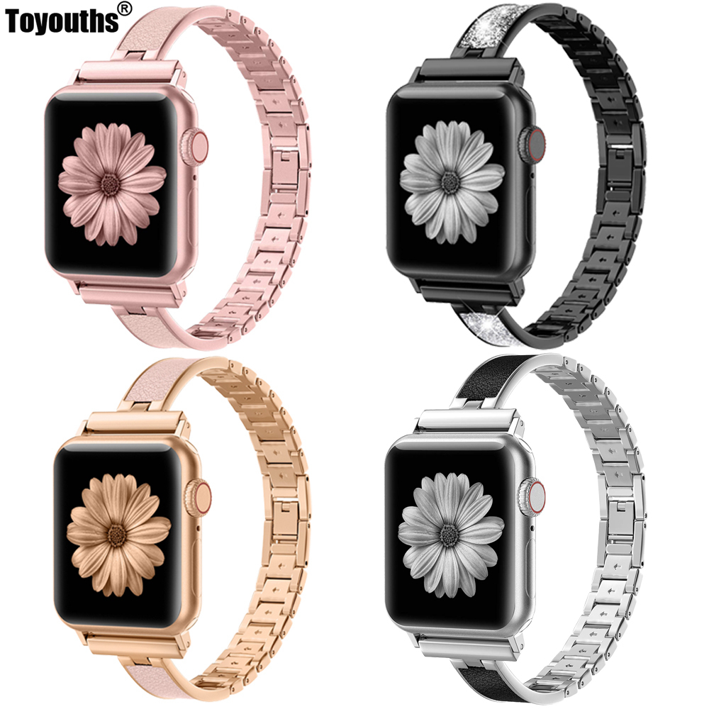 For Apple Watch Band 40mm 44mm Series 5 Slim Replacement Wristband Jewelry Women For IWatch Series 4 3 2 1 38mm 42mm