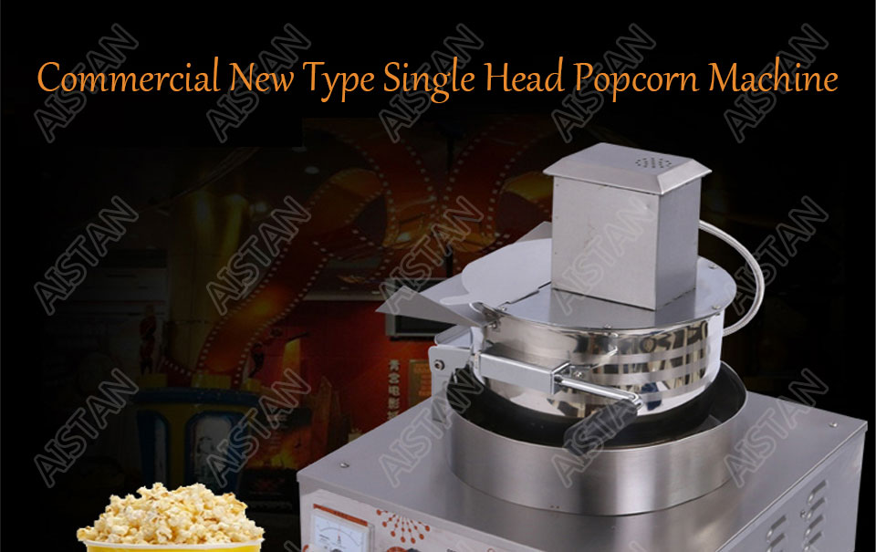 VBG701/VBG702 commercial stainless steel single head/double head gas popcorn machine for kitchen equipment 1