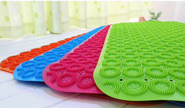 Tasteless Green Plastic Bath Mat Large Bathroom Shower Mats With Suction  Cups Wei