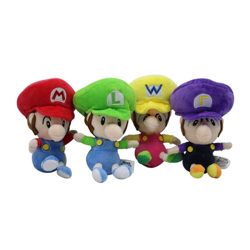 16cm 4 style Cute Super Mario luigi Soft Plush Baby Red Green MARIO BROS  PLUSH Doll
