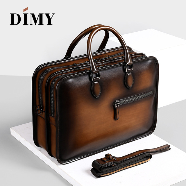 b7f4ffacc479 Handmade Leather Briefcases For Men/ Attache 15 Inch Laptop Case/ Office Work  Bags/