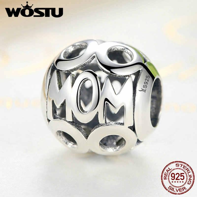 Лидер продаж, настоящее 925 пробы серебро, мама, очаровательные бусины, подходят к оригинальному WST браслету, Аутентичные Роскошные ювелирные изделия, подарок для мамы
