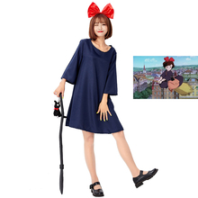 JP Anime Kikis Delivery Service Costume Cosplay For Women Halloween Witch Adult Carnival Party Suit Dress Up
