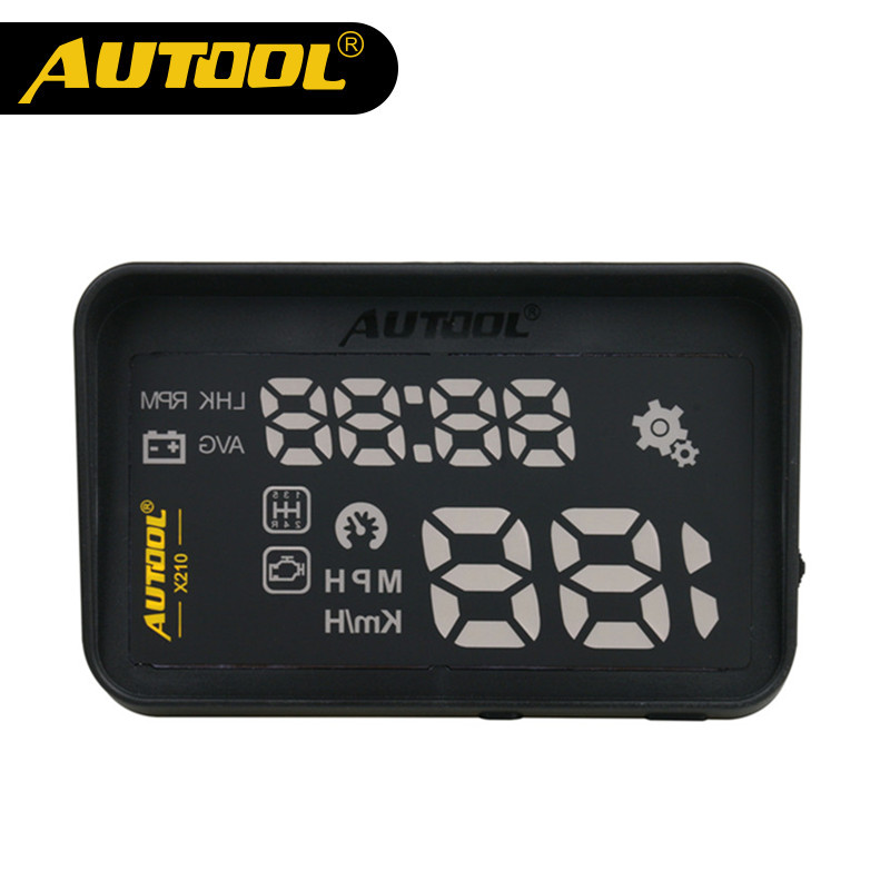 AUTOOL X210 Auto HUD Car Head-Up Display Projector OBD II Automotive Vehicle Speed Show Warning Device with Anti-slip Pad