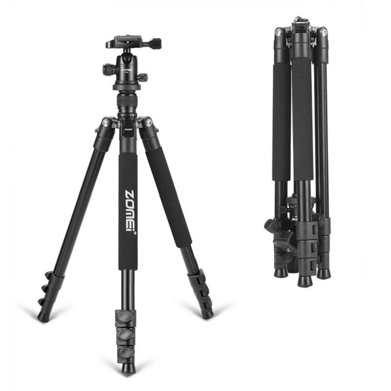 Zomei Q555 Professionnel En Aluminium Flexible Caméra Trépied pour appareils photo REFLEX Portable Trépieds 360 Degrés de Rotation