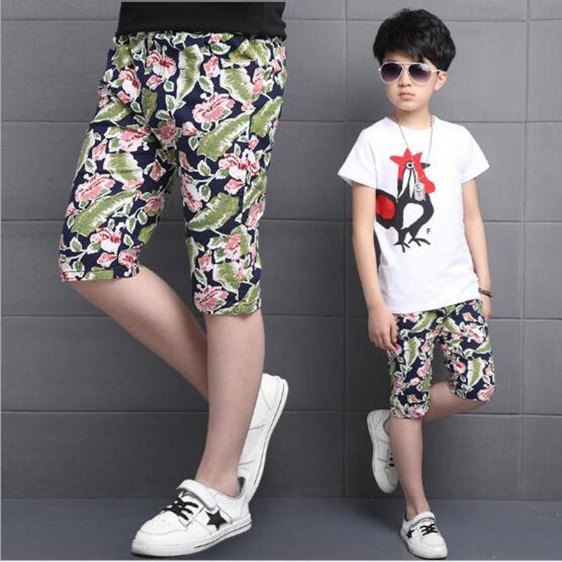 veliki fantje priložnostne kratke hlače 85% bombažni dečki - Otroška oblačila