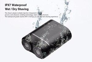 Image 4 - Original Youpin Mijia Zhibai Hause Elektrische Rasierapparate Für Männer Wasserdicht Nass Trocken Rasieren Doppel Ring Klinge USB Aufladbare Rasiermesser