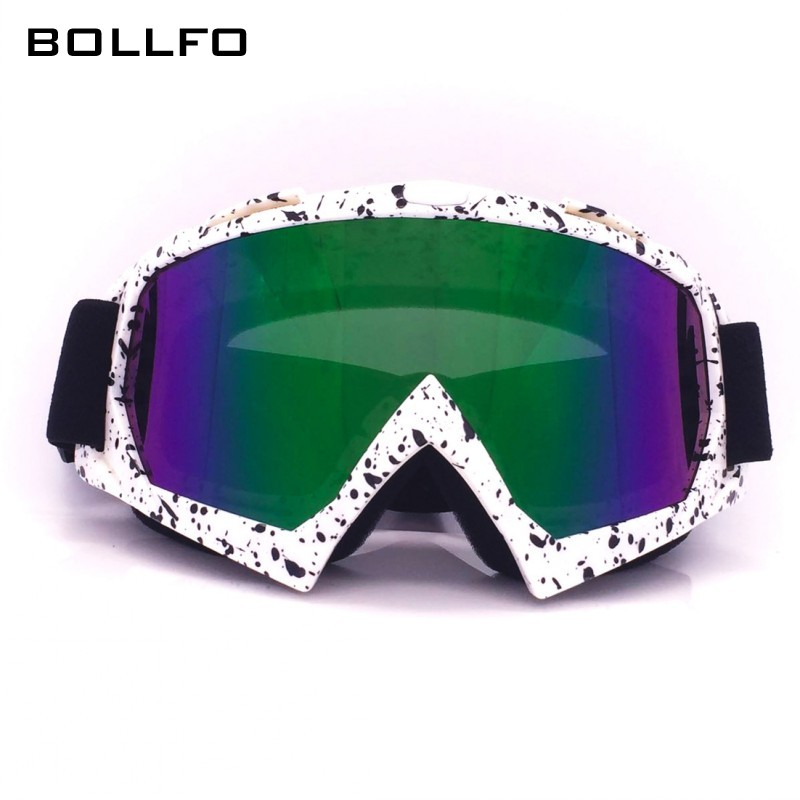 Spot Printed Outdoor Sport Paintball Protection Winter Skiing Glasses Skating Motocross Biker Eyewear Anti UV Motorcycle Goggles