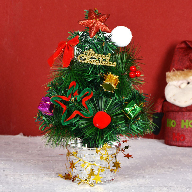 New Fashion 30cm Artificial Green Christmas Tree Home Party Xmas Decoration  Gift the Base Stand Send - New Fashion 30cm Artificial Green Christmas Tree Home Party Xmas