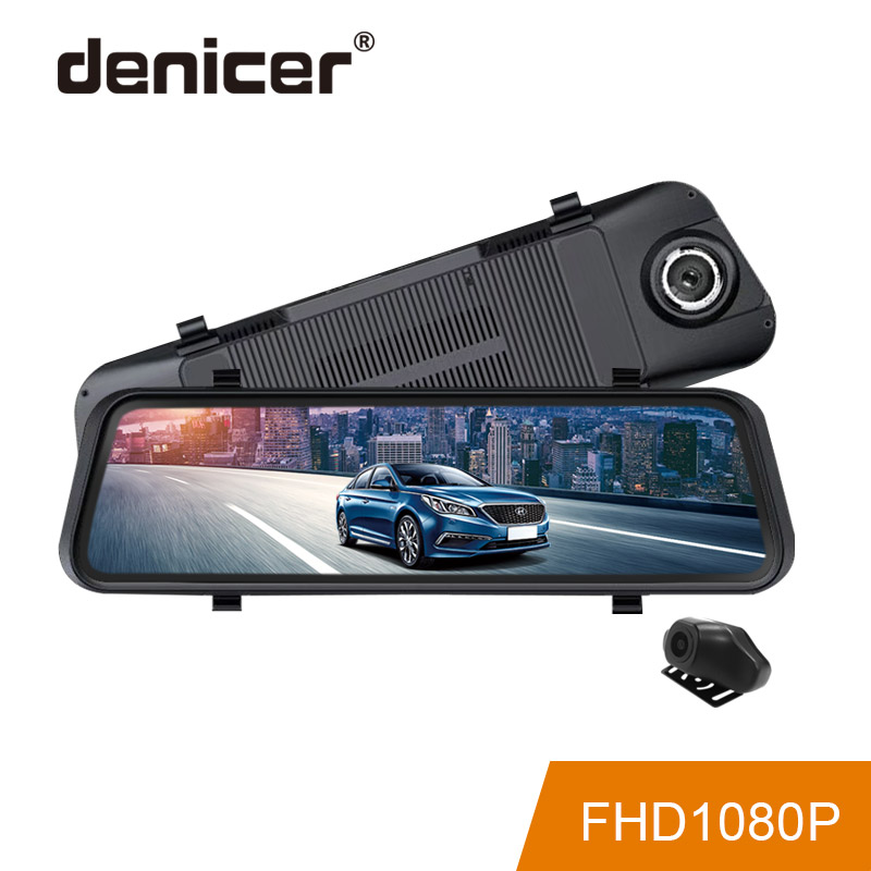 2019 Rear View Camera Stream Media Car DVR Touch Screen 1080P Full HD Night Vision Driving