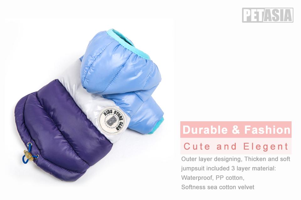Nueva ropa de invierno para perros, abrigo impermeable con capucha 3