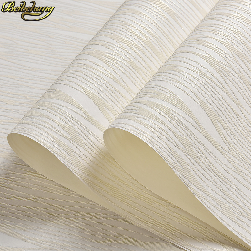 beibehang papel de parede 3D Modern simple plain stripes wallpaper for wall room living room bedroom TV background wall paper sfu1605 700mm ballscrew sfu1605 ballnut bk12 bf12 end support 1605 ballnut housing 6 35 10 coupler cnc rm1605 c7