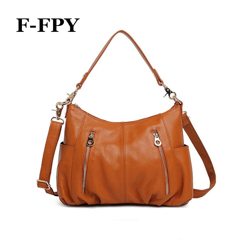 Fashion Women Shoulder Bag Handbags High Quality Genuine Leather Female Casual Tote Bag Ladies Shopping Crossbody Messenger Bag fashion women genuine leather handbags totes bags crossbody women s shoulder bag casual ladies travel messenger bag high quality