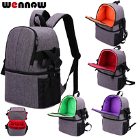 wennew Waterproof DSLR Camera Bag Cover Photographer Case Backpack for Canon EOS 5D Mark IV III 6D 7D Mark II 2 50D 60D 60Da 5DS