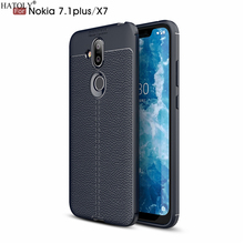 HATOLY Case For Nokia 8.1 Pattern PU Leather Soft TPU Silico