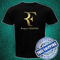 Japanese anime Summer costumes ROGER FEDERER perfekto logo Black t-shirt all size tktdwjo c Free Shipping