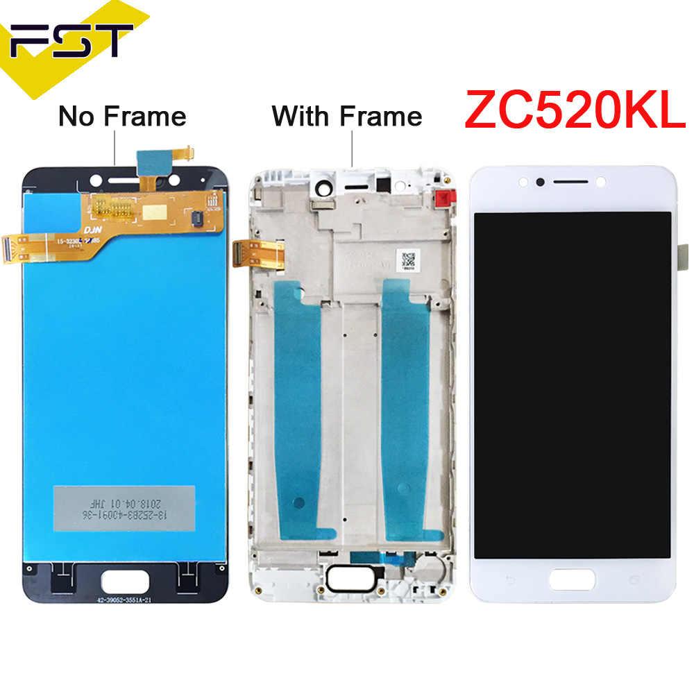 أسود/أبيض 5.2 ''ل Asus Zenfone 4 ماكس ZC520KL شاشة الكريستال السائل مجموعة المحولات الرقمية لشاشة تعمل بلمس مع الإطار استبدال أجزاء