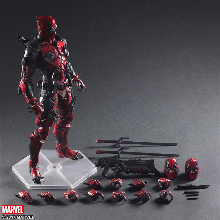 Super Hero Deadpool PVC Action Figure Collectible Model Toy 26cm 26cm crazy toys 16th super hero wolverine pvc action figure collectible model toy christmas gift halloween gift
