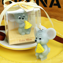 Children Party Gift Birthday Candle Smokeless Scented Craft Mouse Zodiac Party Paraffin Candle Cake Topper Decoration