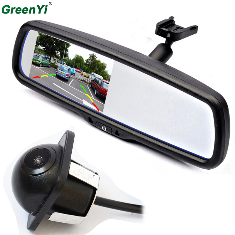 Parking Assistance System Car Windscreen Rear View Mirror Car Bracket Monitor with Car Rearview BackUp Reverse Parking Camera