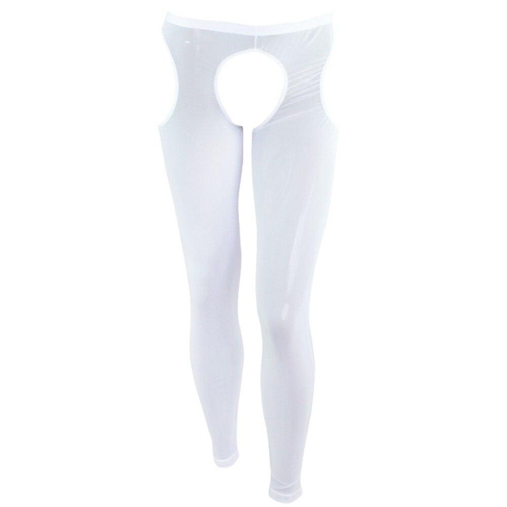 Underwear & Sleepwears Iefiel Men Long Johns Male Open Crotch Sexy Club Body Shaper Lingerie Gay Underwear Underpants Sexy Intimates Wetlook Panties