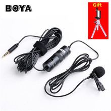 BOYA BY M1 Omnidirectional Camera Lavalier Condenser Microphone for DSLR Canon Nikon Sony iPhone 7 6S