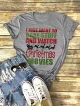 new  Bake Stuff And Watch Christmas Movies women t-shirts tee top womens cute female tshirt t tops christmas shirt
