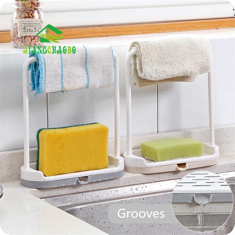 JiangChaoBo Kitchen Countertops Storage Racks Dust Sheets Dish Drain Shelfs Free Punch Towels Cloth Sheets Rag Racks