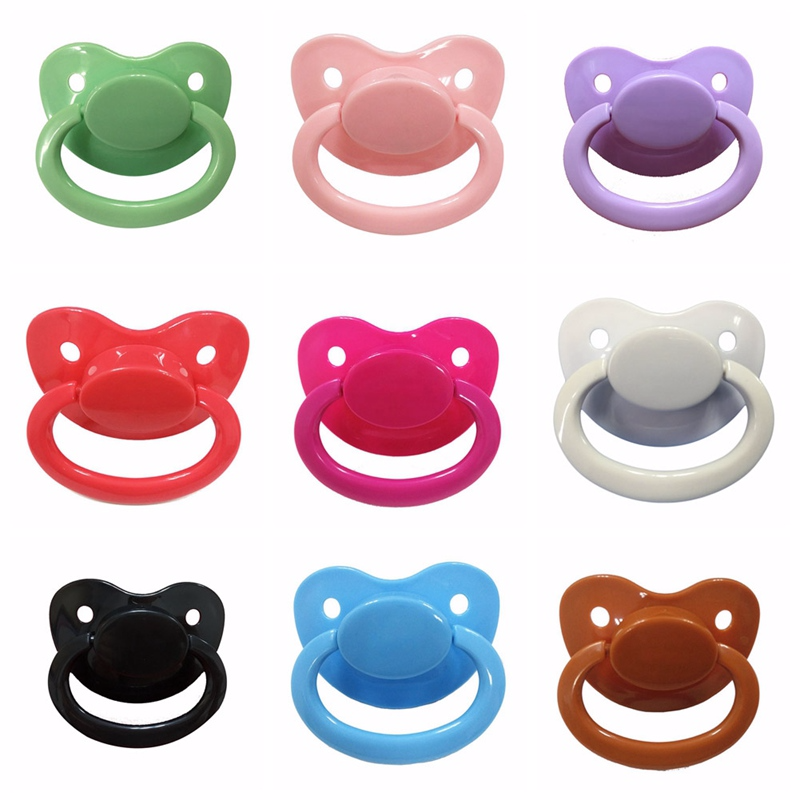 Custom Big Size Silicone Adult Pacifier Solid Color Baby Pacifier Classic High Quality Nipple For Kids