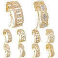 F&U New 13 style Gold plated Austrian crystal brand jewelry chain rhinestone bracelet women wedding Jewelry