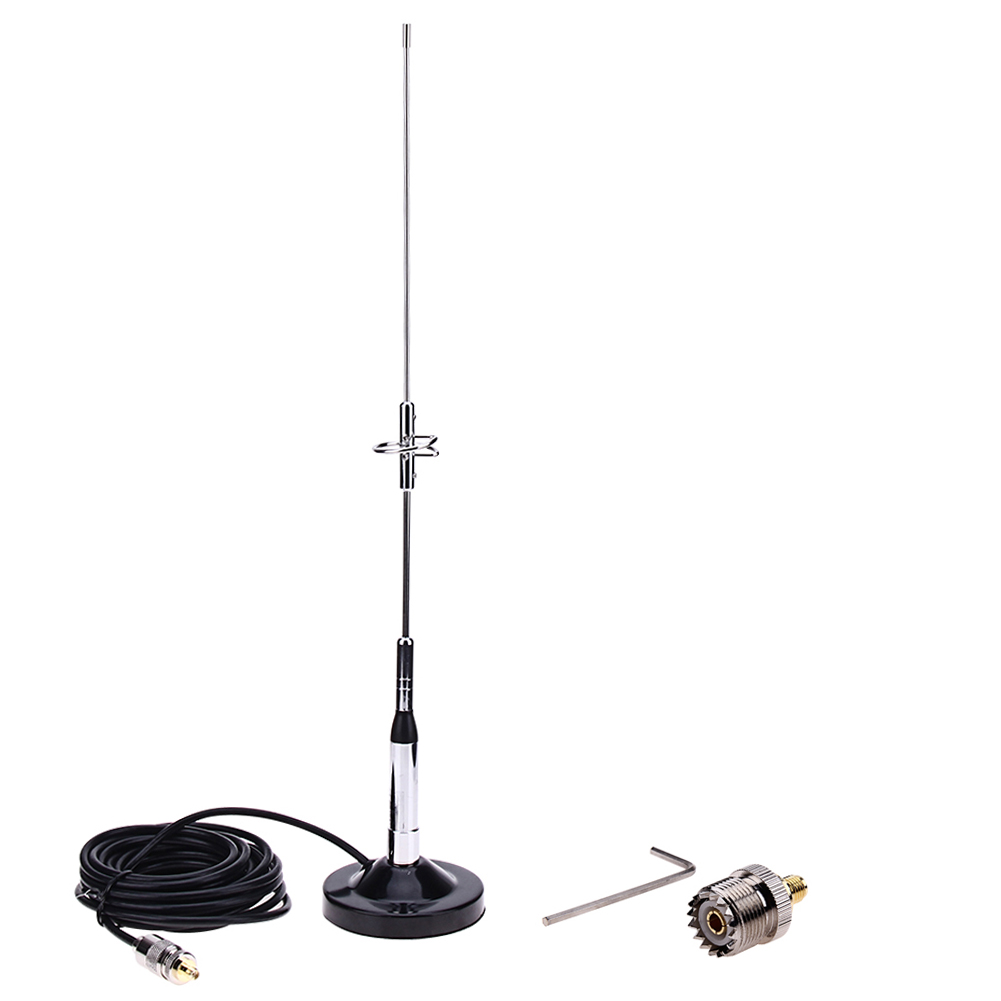 770S <font><b>Antenna</b></font> with Magnetic Mount Base UHF-M PL259 Cable Connector for Auto <font><b>Car</b></font> Mobile Radio Signal Aerial image