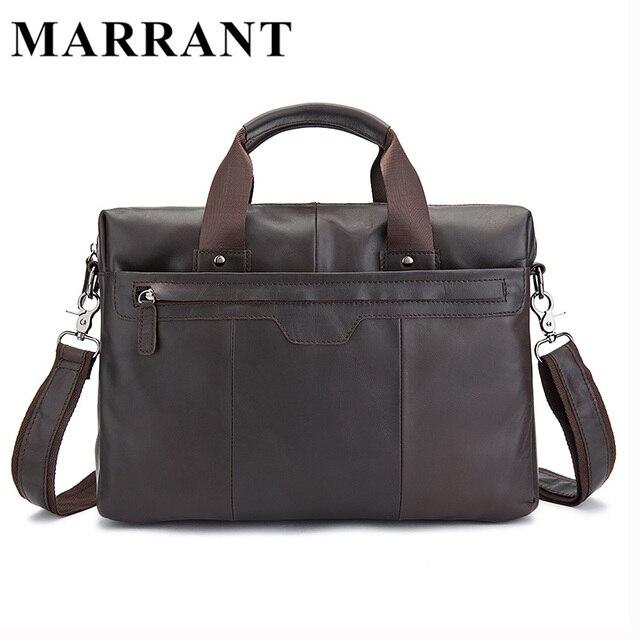 MARRANT Genuine Leather Men Bag Leather Man Briefcase Laptop Bag Business Men's Travel Bags Male Crossbody Shoulder Handbag 8013