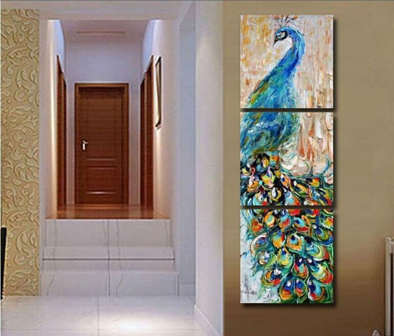 3 stücke wandkunst Pfau malerei kunstdruck malerei Home decoration ...