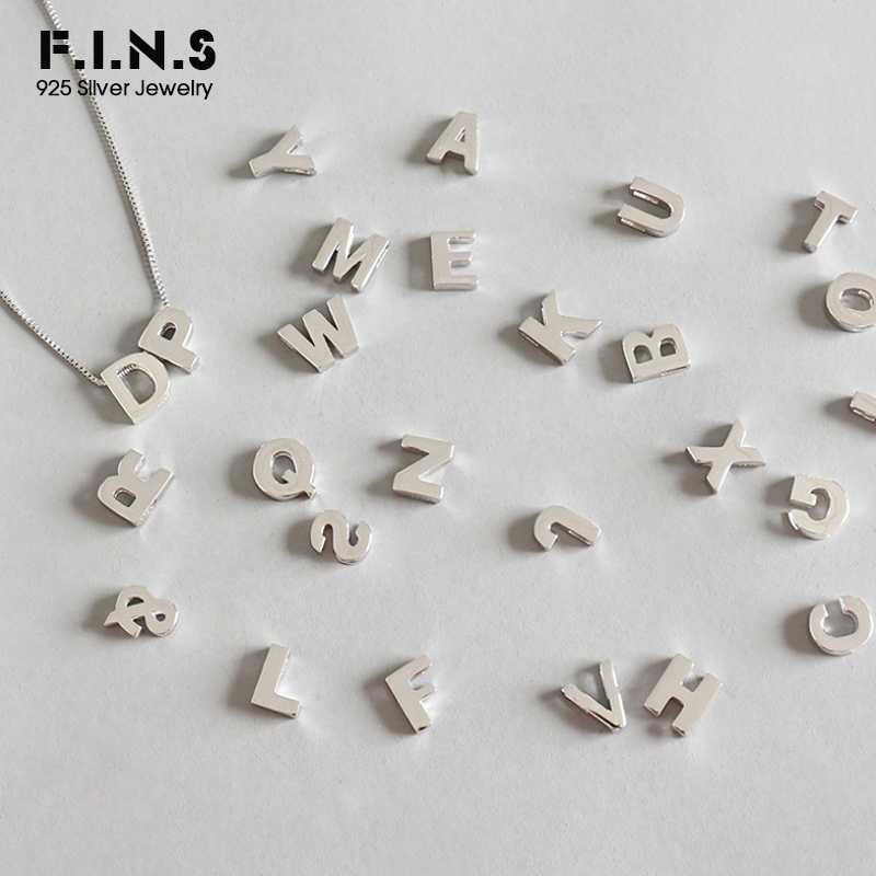 Sterling Silver Round Initial Charm Letter i Lower Case Hand Stamped Pendant with 16 Sterling Silver Bead Chain