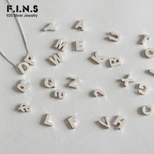 F.I.N.S S925 Sterling Silver Simple 26 English Alphabet Pendant without Chain Letter DIY Necklace for Lovers 925 Silver Jewelry(China)