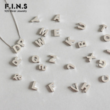F.I.N.S S925 Sterling Silver Simple 26 English Alphabet Pend