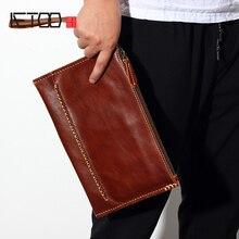 AETOO Mens envelope bag leather business casual mobile phone large capacity mens handbag