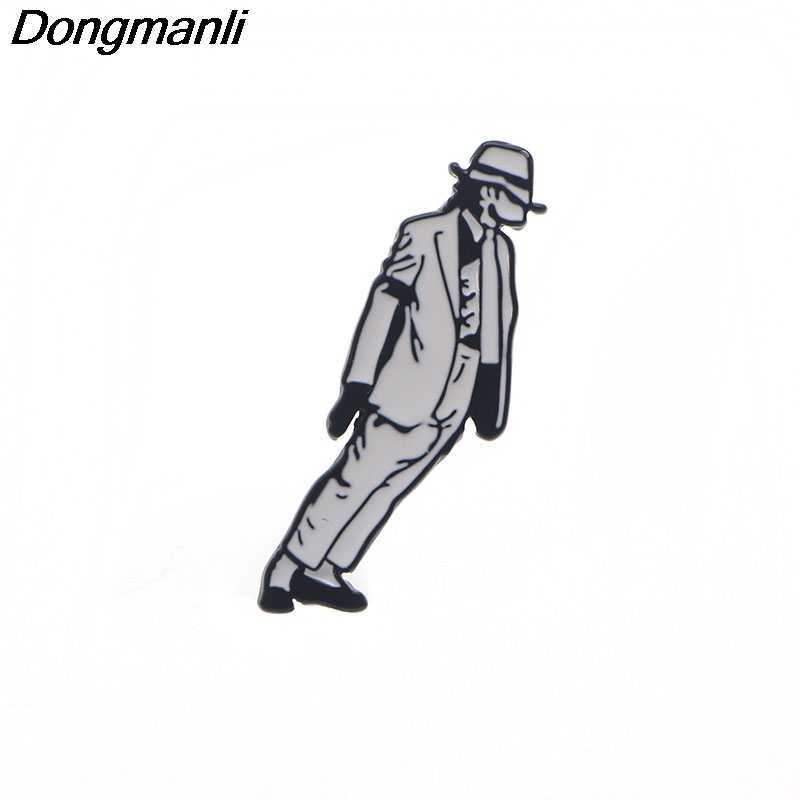 P3410 Dongmanli Michael Jackson Metal Enamel Pins and Brooches for Women  Men Lapel Pin Backpack Bags 4d246b96850e