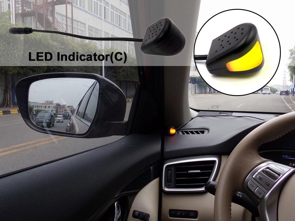 kitbsm Change Lane LED Light Warning Buzzer Alarm 24 Ghz Microwave sensor LED Lights 10KM/h Blind Spot Sensor warning System - 2
