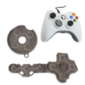 Controller Conductive Rubber Contact Pad Button D-Pad for Xbox 360 Controller Grey Color image