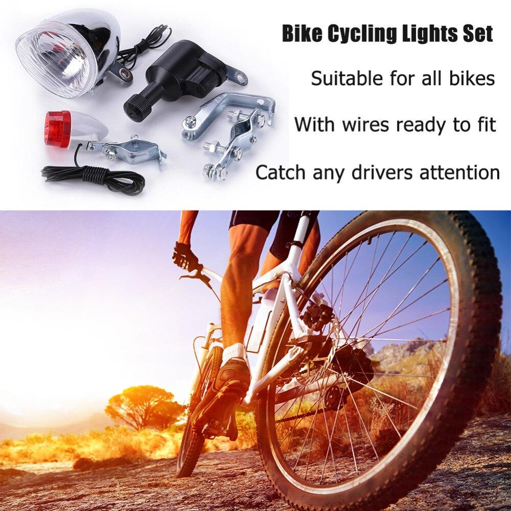 fiets dynamo verlichting set bike cyclus veiligheid geen batterijen nodig koplamp achter fietsverlichting voor alle fietsen fietsen licht nieuwe in fiets