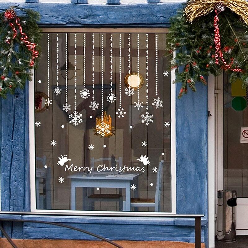 SHIJUEHEZI] Wit Sneeuwvlok Windows Sticker voor Winkel Glazen ...