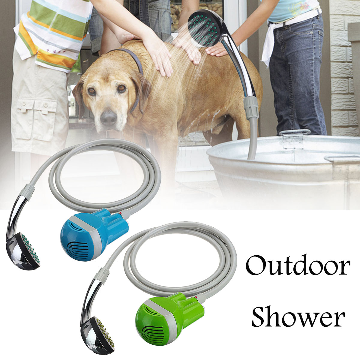 Portable Outdoor Camping Car Washer Shower Hiking Travel Handheld Battery Powered USB Rechargeable Home Bathroom Water Shower(China)