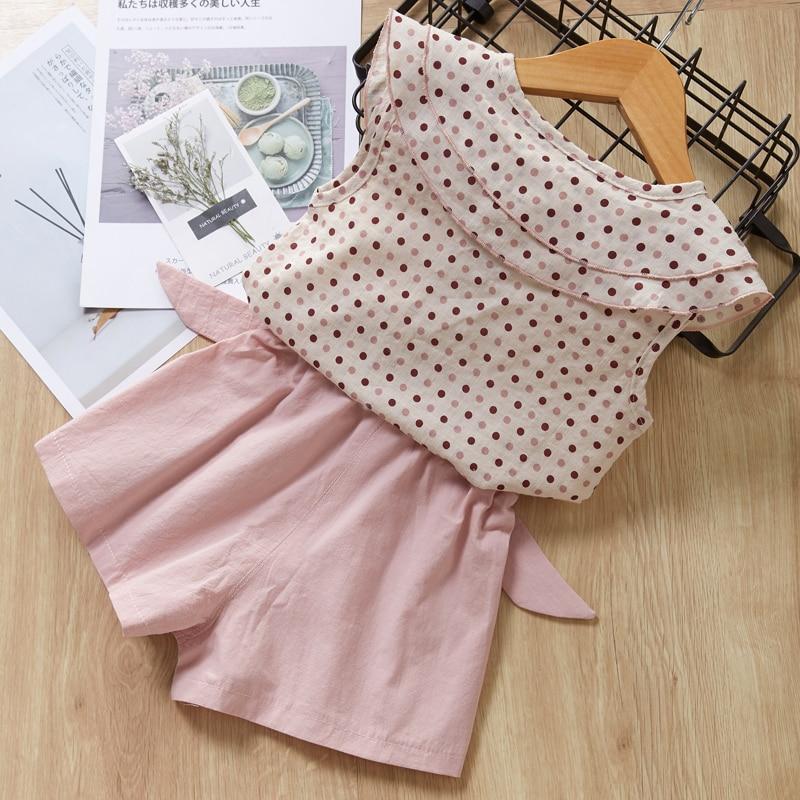 HTB1qI80a2Bj uVjSZFpq6A0SXXan Menoea Girls Suits 2020 Summer Style Kids Beautiful Floral Flower Sleeve Children O-neck Clothing Shorts Suit 2Pcs Clothes