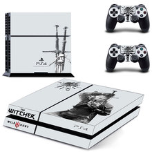 The Witcher Skin Sticker For PS4 Playstation 4 Console + Free Controllers Vinyl Decal