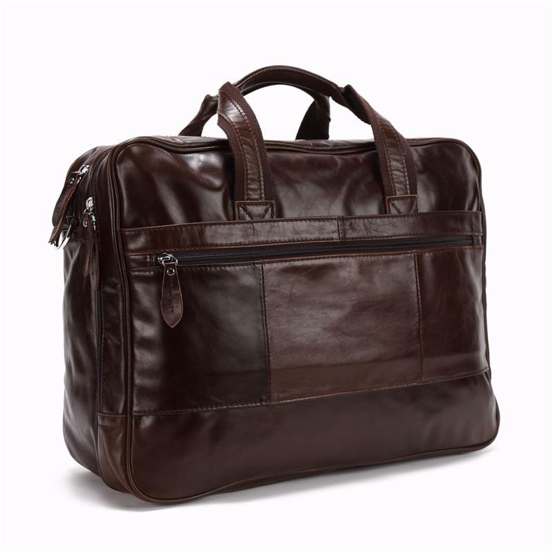 14 Männer Büro Echtem ''15 Leder Aktentasche Portfolio Umhängetasche Nesitu Business Kaffee Große Laptop M1017 6'' Reise zqwTXT