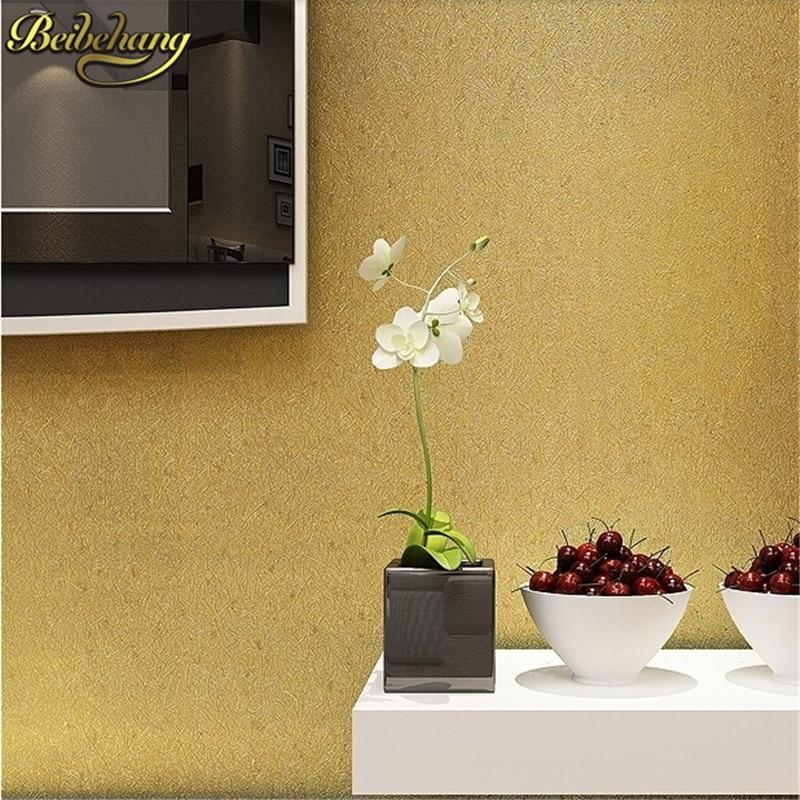 beibehang papel de parede 3d rolls TV background gold foil wallpapers modern brief 3D wall PVC Glitter wallpaper gold for walls