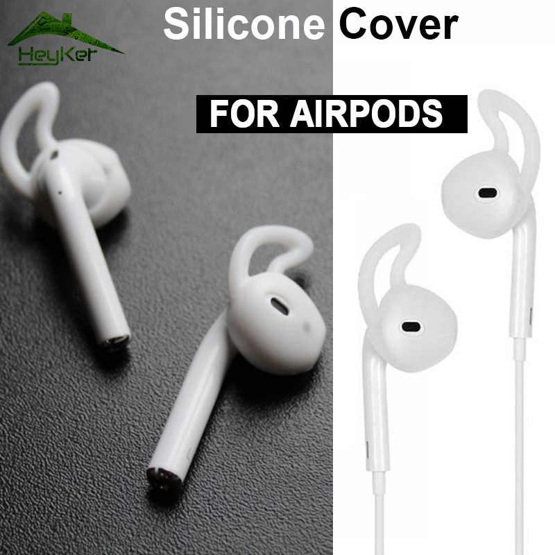 Dla AirPods 2 silikonowe antypoślizgowe osłona uszu Hook słuchawki słuchawki douszne do i10 tws i12 i30 tws i40 i50 i60 i70 i80 i100 I600