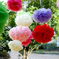 100pcs - 12''=30CM Tissue Pom Pom Paper Pompoms Wedding Decorations Party Poms House Decor, 25 Colors To Pick